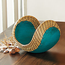 Small Boat in Teal by Hannie Goldgewicht (Ceramic Vessel)