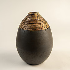 Gray Orbit Vessel by Hannie Goldgewicht (Ceramic Vessel)
