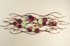 Spring Breeze by Hannie Goldgewicht (Ceramic Wall Sculpture)