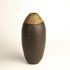 Black Bullet Vessel by Hannie Goldgewicht (Ceramic Vessel)