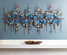 Reflections by Hannie Goldgewicht (Mixed-Media Wall Sculpture)