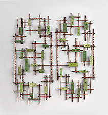 Meadows by Hannie Goldgewicht (Mixed-Media Wall Sculpture)
