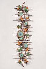 Adrift by Hannie Goldgewicht (Mixed-Media Wall Sculpture)