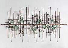 Tranquil Breeze by Hannie Goldgewicht (Mixed-Media Wall Sculpture)