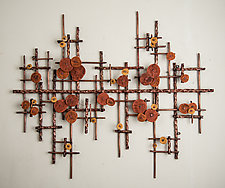 Broken Horizon at Sunset by Hannie Goldgewicht (Metal Wall Sculpture)