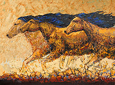 Prairie Rumble by Ritch Gaiti (Oil Painting)