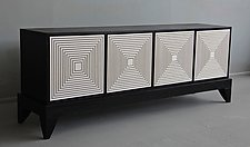 Maze Console Lowboy by Kevin Irvin (Wood Cabinet)