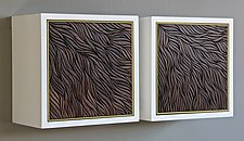 Wave Wall Cabinet by Kevin Irvin (Wood Cabinet)