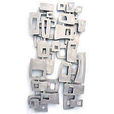Freeform Squares by Cherie Haney (Metal Wall Sculpture)