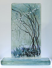 Dream of Snow by Alice Benvie Gebhart (Art Glass Sculpture)