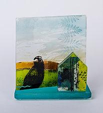Watch Over Me by Alice Benvie Gebhart (Art Glass Sculpture)