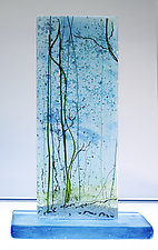 Fluffy Snow by Alice Benvie Gebhart (Art Glass Sculpture)