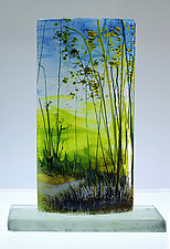 Meadow Beyond by Alice Benvie Gebhart (Art Glass Sculpture)