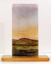 Desert Sunrise by Alice Benvie Gebhart (Art Glass Sculpture)