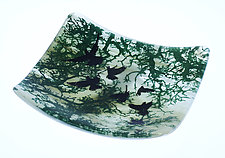 Fly Away Home in Green by Alice Benvie Gebhart (Art Glass Bowl)