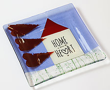 Home is Where the Heart Is 2 by Alice Benvie Gebhart (Art Glass Platter)