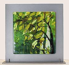 Light Through the Trees by Alice Benvie Gebhart (Art Glass Sculpture)