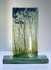 Seasonal Pleasure by Alice Benvie Gebhart (Art Glass Sculpture)