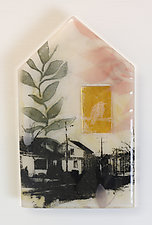 The Old Neighborhood by Alice Benvie Gebhart (Art Glass Wall Sculpture)