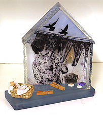 The Chores of Home by Alice Benvie Gebhart (Art Glass Sculpture)