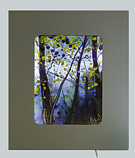 Capture the Morning by Alice Benvie Gebhart (Art Glass Wall Sculpture)