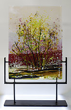 Spring Blossoms by Alice Benvie Gebhart (Art Glass Sculpture)