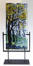 Hundred Acre Wood I by Alice Benvie Gebhart (Art Glass Sculpture)