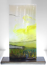 Lemon Sky by Alice Benvie Gebhart (Art Glass Sculpture)
