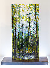 Through the Wood by Alice Benvie Gebhart (Art Glass Sculpture)