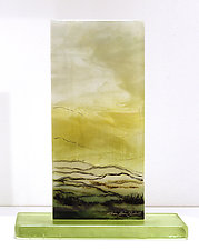 Desert View by Alice Benvie Gebhart (Art Glass Sculpture)