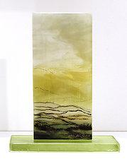 Desert View by Alice Benvie Gebhart (Art Glass Sculpture)
