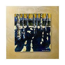 Sunset Chorus by Alice Benvie Gebhart (Art Glass Wall Sculpture)