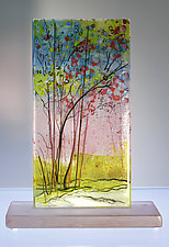 Spring Glow by Alice Benvie Gebhart (Art Glass Sculpture)