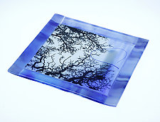 In the Trees in Blue by Alice Benvie Gebhart (Art Glass Tray)