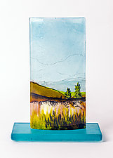 Lingering View by Alice Benvie Gebhart (Art Glass Sculpture)