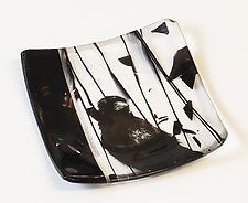Crow Dish by Alice Benvie Gebhart (Art Glass Dish)