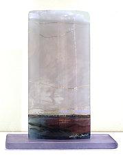 Stormy Skies II by Alice Benvie Gebhart (Art Glass Sculpture)