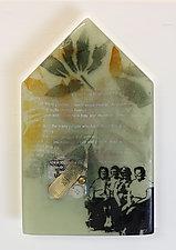 Friendship House by Alice Benvie Gebhart (Art Glass Wall Sculpture)