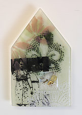 The Things Girls Share by Alice Benvie Gebhart (Art Glass Wall Sculpture)