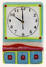 Whimsical Clockworks by Alice Benvie Gebhart (Art Glass Clock)