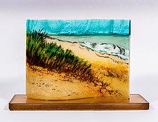 Ocean Wave by Alice Benvie Gebhart (Art Glass Sculpture)