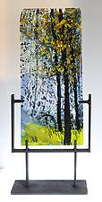 Hundred Acre Wood II by Alice Benvie Gebhart (Art Glass Sculpture)