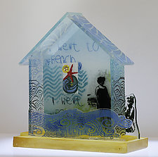I Went to the Beach by Alice Benvie Gebhart (Art Glass Sculpture)