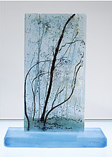Wind Blows Quietly by Alice Benvie Gebhart (Art Glass Sculpture)