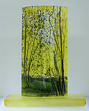Sage and Citrus by Alice Benvie Gebhart (Art Glass Sculpture)