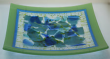 Confetti Dish II by Alice Benvie Gebhart (Art Glass Platter)