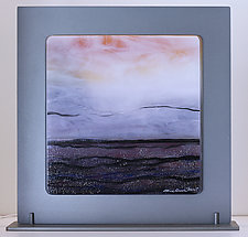 Seaside Sunset by Alice Benvie Gebhart (Art Glass Sculpture)