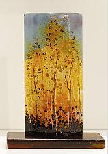 Autumn Flame by Alice Benvie Gebhart (Art Glass Sculpture)