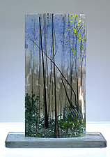 Silent Trees by Alice Benvie Gebhart (Art Glass Sculpture)