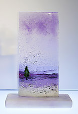 Purple Winter Reflection by Alice Benvie Gebhart (Art Glass Sculpture)